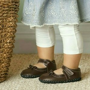 Pediped Isabella chocolate brown leather soft sole